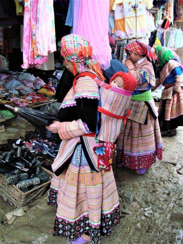 Marktdag in Bac Ha.