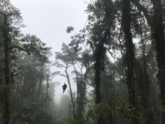 Ziplijnen in Monteverde