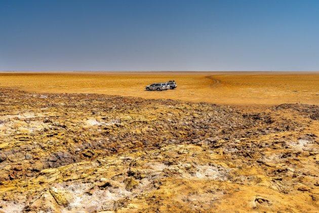 Het verlaten gebied van Dallol