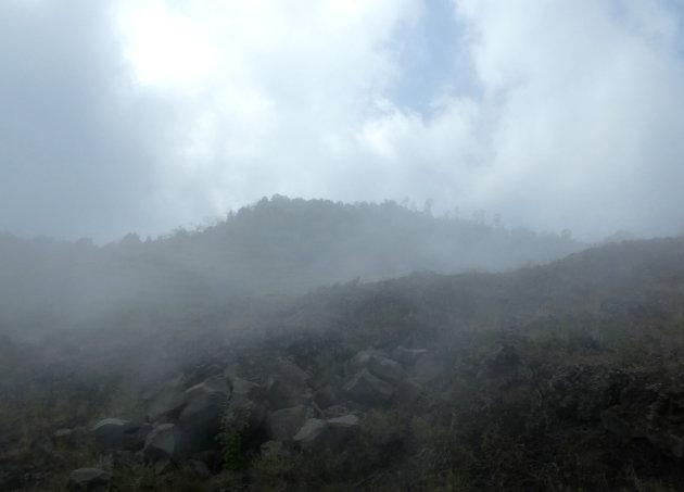 halverwege in de mist