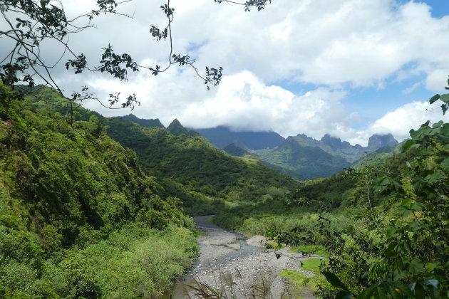 De grillige toppen van Tahiti