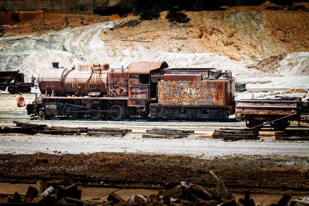 Old train in Rio Tinto