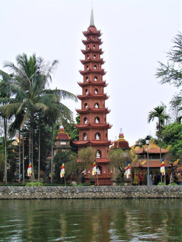Pagoda op schiereilandje.