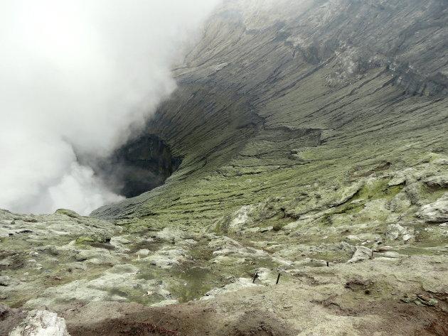 kijkje in de krater