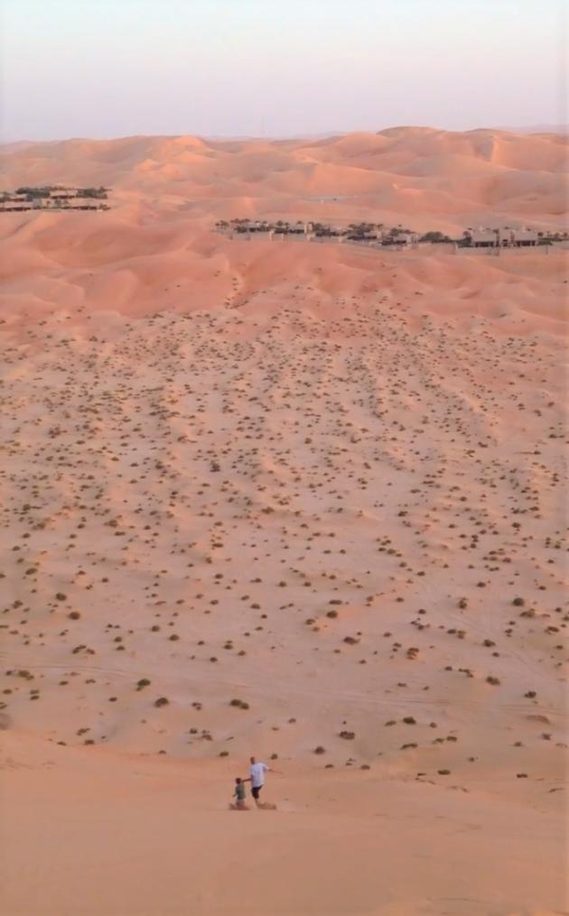 Rennen vanaf de zandduinen