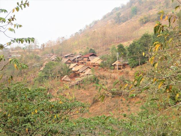 Bergdorpje in Laos.