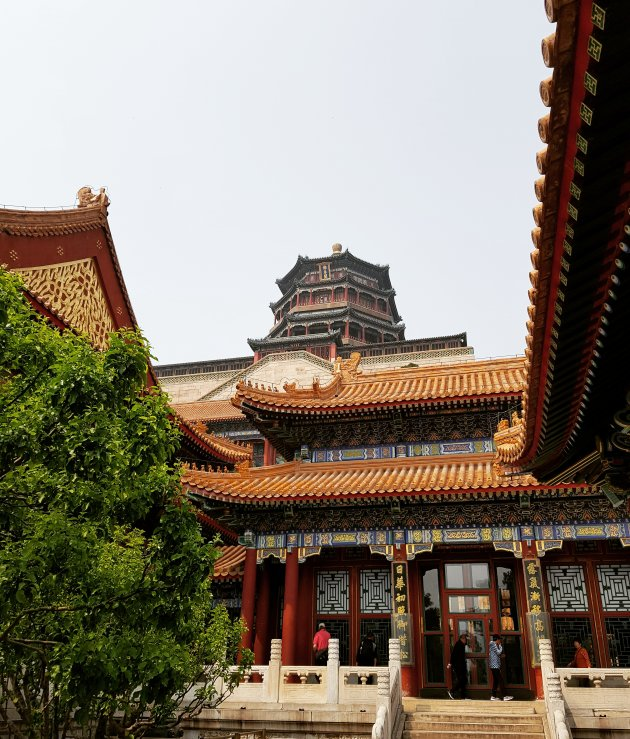Lagen van het zomer paleis in Beijing