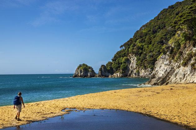 Het rustige gedeelte van het Abel Tasman N.P.