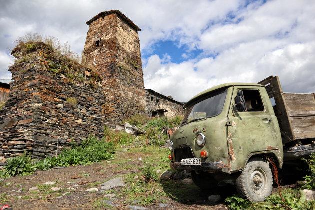 Het bergdorp Ushguli