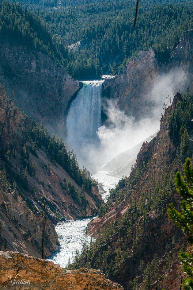 Lowerfalls Yellowstone Park