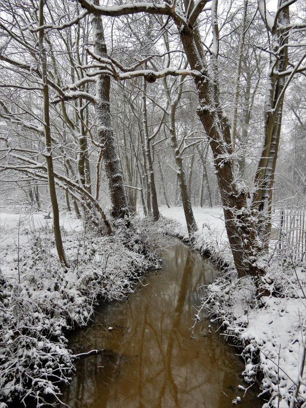 Feeriek sneeuwlandschap om de hoek