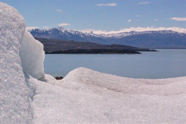 wandelen over Glacier Viedma