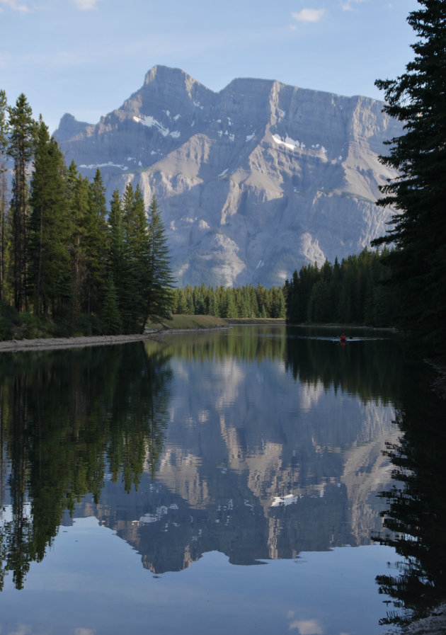 Kanoen in de Rocky Mountains
