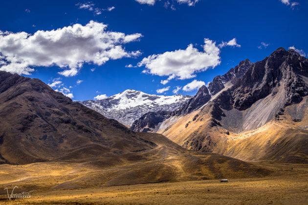 Een panorama onderweg van Puno naar Cuzco