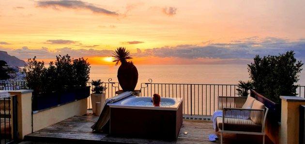 Hotel met prachtig balkon in Amalfi
