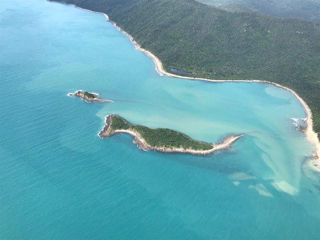 De whitsunday eilanden vanuit de lucht