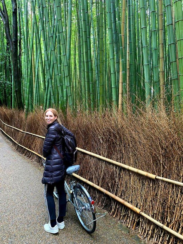 Op de fiets door Arashiyama in Kioto