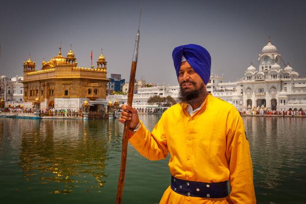 Sikh bewaker in Amritsar