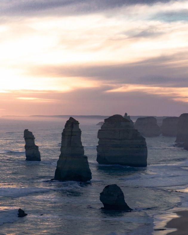 Zonsondergang bij de 12 apostles