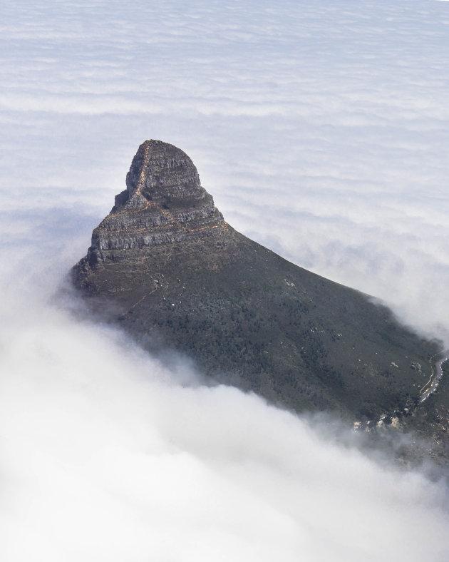 Hiking Lions Head, Kaapstad.