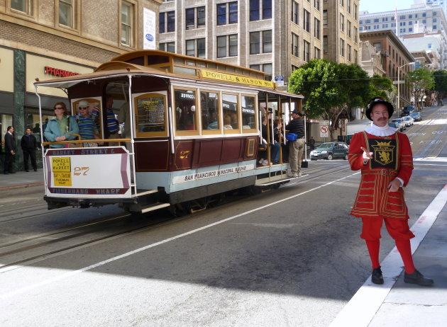 San Francisco cable car, toeristisch maar toch gewoon doen haha we liepen al genoeg...