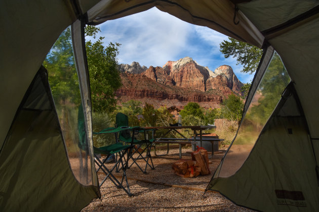 kamperen met mooi uitzicht