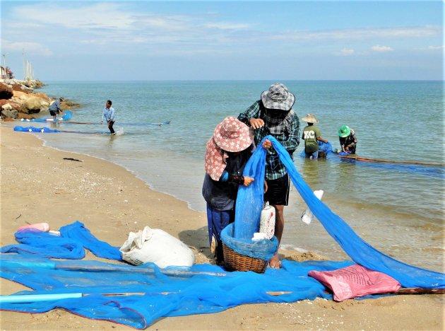 Garnalen vissers.