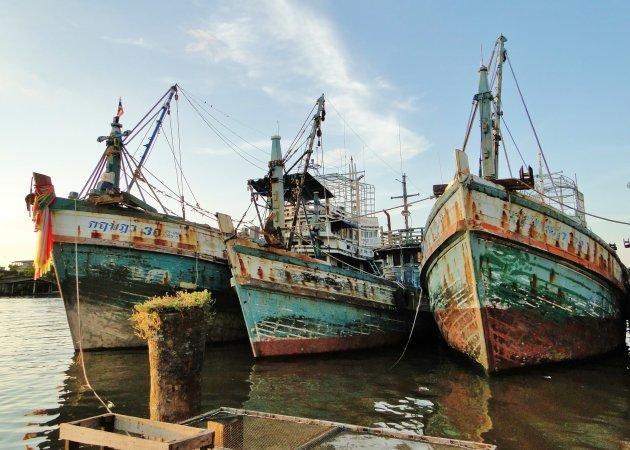 Oude Thaise vissersboten.