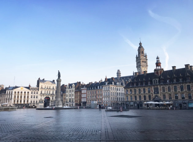 Mooiste plein van Lille in rust