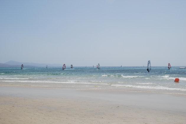 Surfers op Fuerteventura