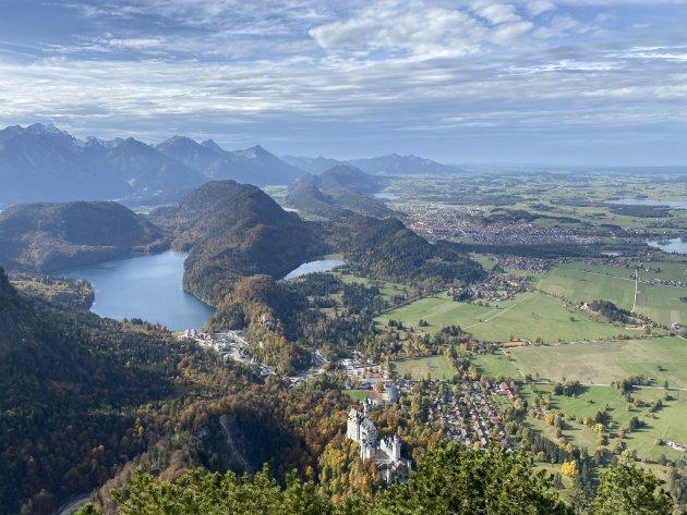 Uitzicht op Schloss Neuschwanstein