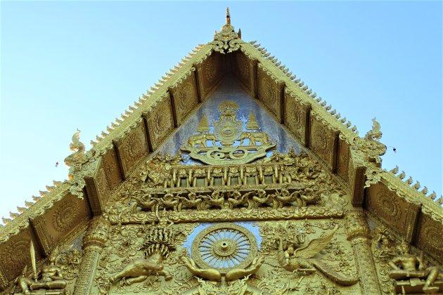 Uitbundig gedecoreerde Tempel.