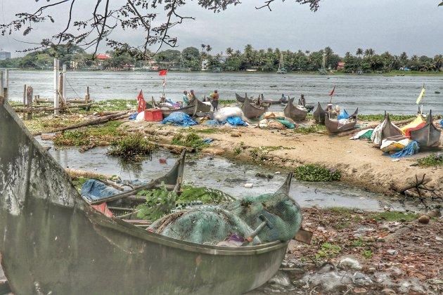 Bij de vissers in Kochi