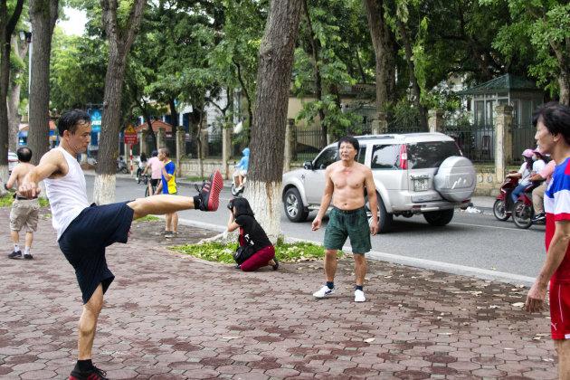 Sporten op straat