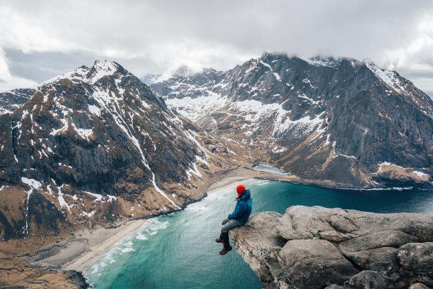 Hiking Lofoten.