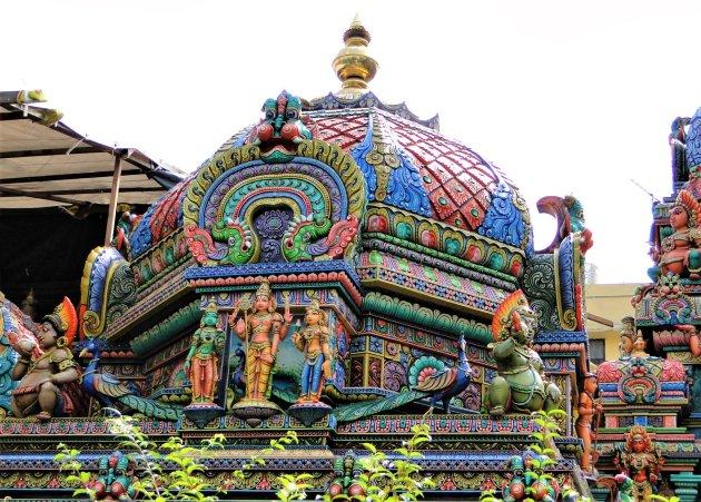 Koepel van Hindoe Tempel in Bangkok.