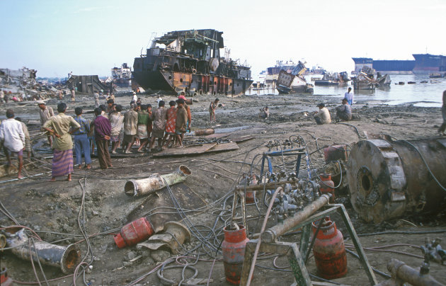 Chittagong Bangladesh Sloopschepen yard