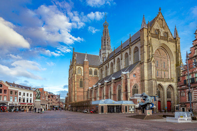 Tweeluik St. Bavo Kerk op de Grote Markt