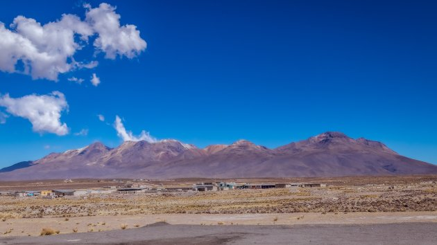 Peruaans dorpje in de bergen