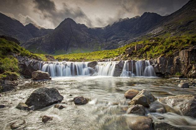 de Fairy pools op het eiland Skye