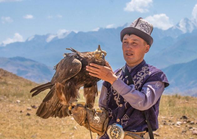 Jagen met een adelaar