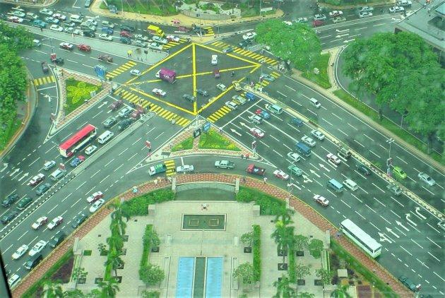 Kruispunt voor de Petronas Towers.