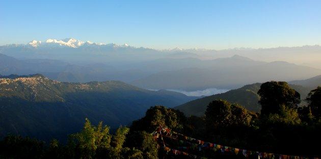 Himalaya view vanaf Tiger Hill