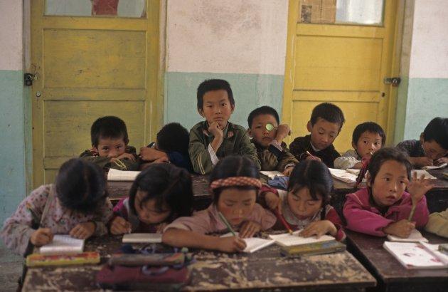 School klasje in Hebei provincie China
