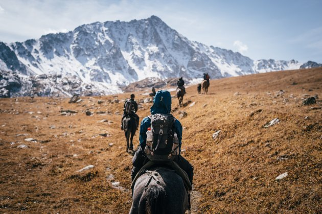 Horse trekking in Kirgizïe.