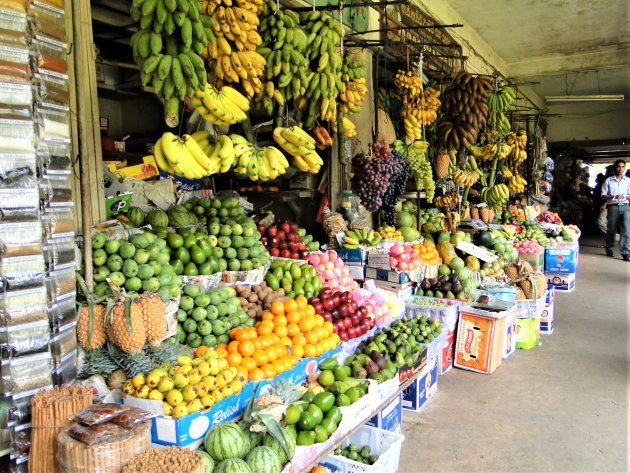 Op de markt in Kandy.