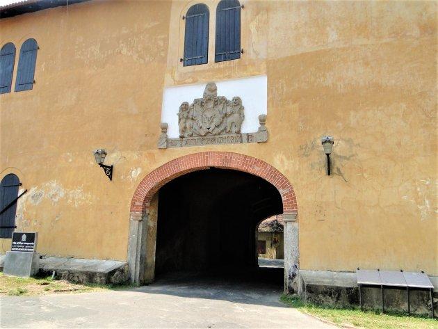 Poort in het grote Pakhuis van de VOC.