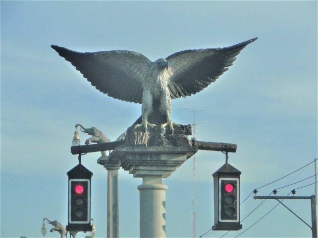 Verkeerslichten in Krabi.