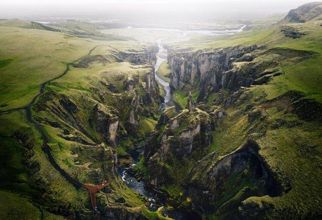 Fjaðrárgljúfur - Groene kloof uit de laatste ijstijd