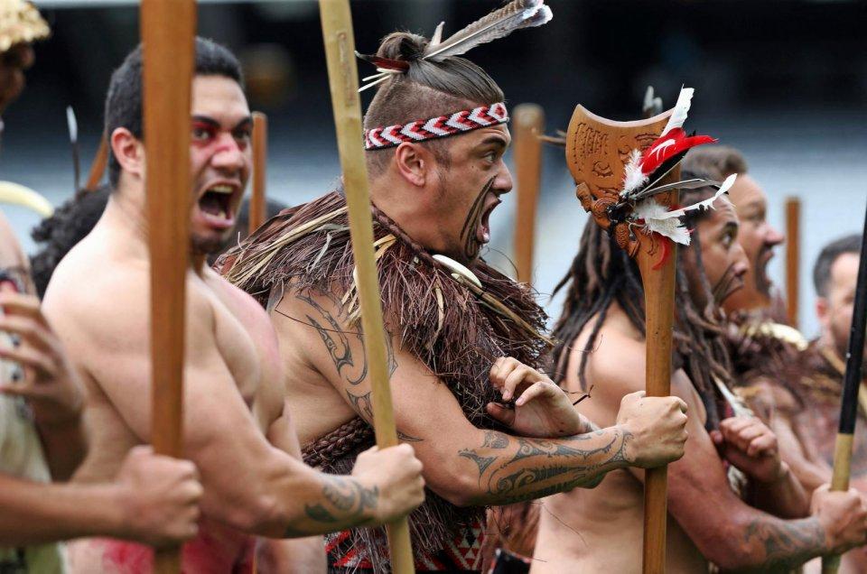 Oorlogsdansen van de Maori, Oceanië CREDIT ANP